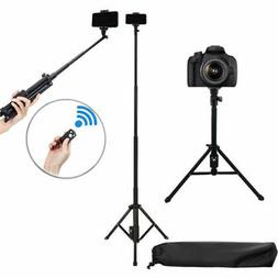 """54"""" Tripod monopod + Remote for iPhone Xs X Xr 8 7 Plus Note"""