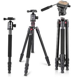 "Neewer 64"" Camera Tripod Monopod with 360 Degree Ball Head F"