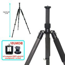 "65"" Carbon Fiber Tripod & Monopod for DSLR Camera Photograph"