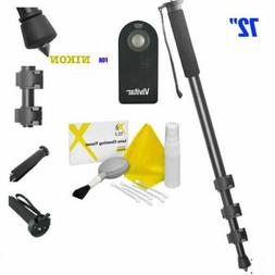 "72"" Camera Monopod + IR Remote Control for NIKON DSLR CAMERA"