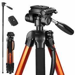 Victiv 72-inch Tall Tripod for Camera,Durable Aluminum Stand