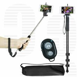 """72"""" Monopod + 43"""" Selfie Stick, Bluetooth Remote for iPhone"""