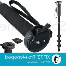 """XIT 72"""" Full-Size Professional Monopod W/ Quick Release - Bl"""