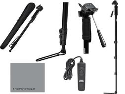 """72"""" SPORTS MONOPOD + FOOT STAND + REMOTE FOR CANON REBEL T3"""