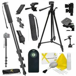 "72"" TRIPOD + 72"" MONOPOD + REMOTE FOR CANON REBEL NIKON SONY"