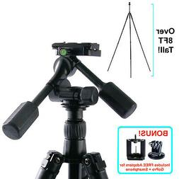 8FT Aluminum Camera Tripod/Monopod Tilt/Pan Head DSLR Photog
