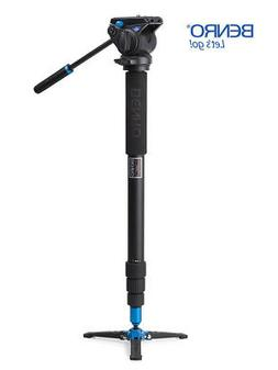 Benro A48TDS4 Video Monopod with Twist Lock, S4 Head and 3 L