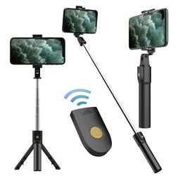 Extendable Selfie Stick Monopod Remote Shutter For iPhone 12