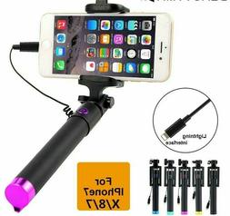 For iPhone X 8 7 Selfie Stick Para Palo Selfie Monopod For i