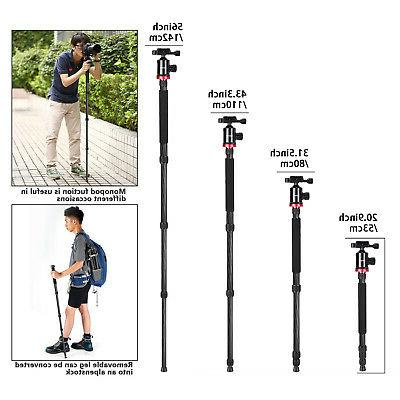 Neewer Tripod 184cm Carbon Fiber Rotatable Center