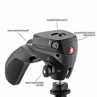 Manfrotto Compact Action Aluminum 5-Section Tripod Hybrid Bla…