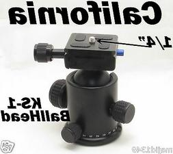 Metal KS-1 Ball Head Quick release Plate for Monopod Tripod