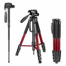 "Neewer Red 70"" Aluminum Alloy Camera Tripod Monopod with 3-W"