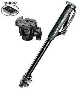 Manfrotto New XPRO 3-Section Aluminum Monopod/234RC Head and