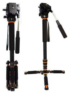 Professional Camera Aluminum Monopod Fluid Video Head with M