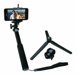 Zuma Selfie Stick Monopod with Removable Bluetooth, Adapter