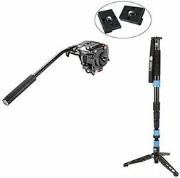 Sirui SUP204SR Photo/Video Monopod with Manfrotto XPRO Fluid