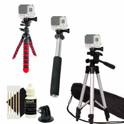 "50"" Tall Tripod + Monopod, Flexible Tripod and Gopro Hero Mo"