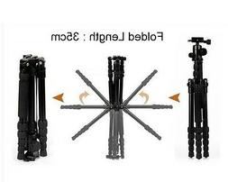 Besnfoto Travel Tripod Combo Leg and Head with QR Plate chan