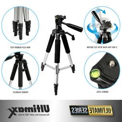 Professional 57-inch Tripod 3-way Panhead Tilt Motion For Al