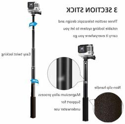 Waterproof Extension Pole Selfie Stick Monopod For Go Pro Go